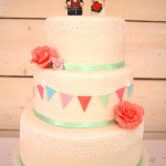 Bunting Three Tier Wedding Cake
