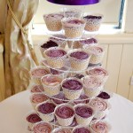 Purple Ombre Cupcake Tower