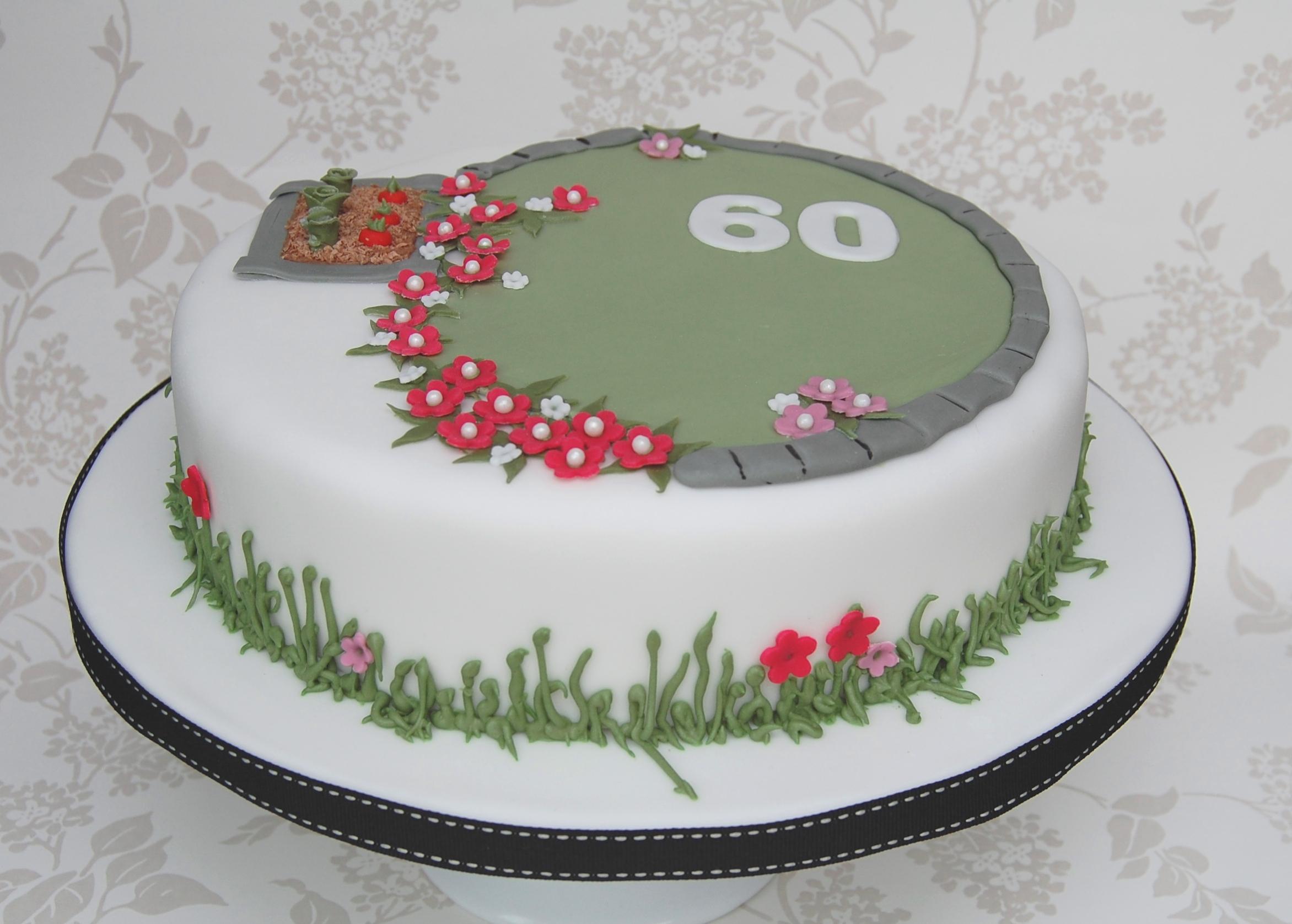 Garden Themed Birthday Cakes Garden Themed Birthday Cake