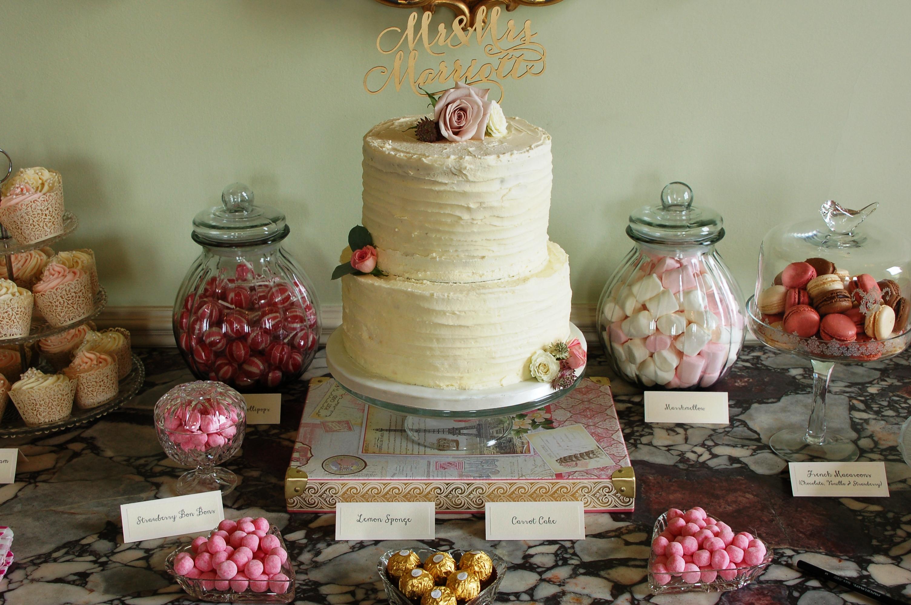 Two Tier Buttercream Wedding Cake