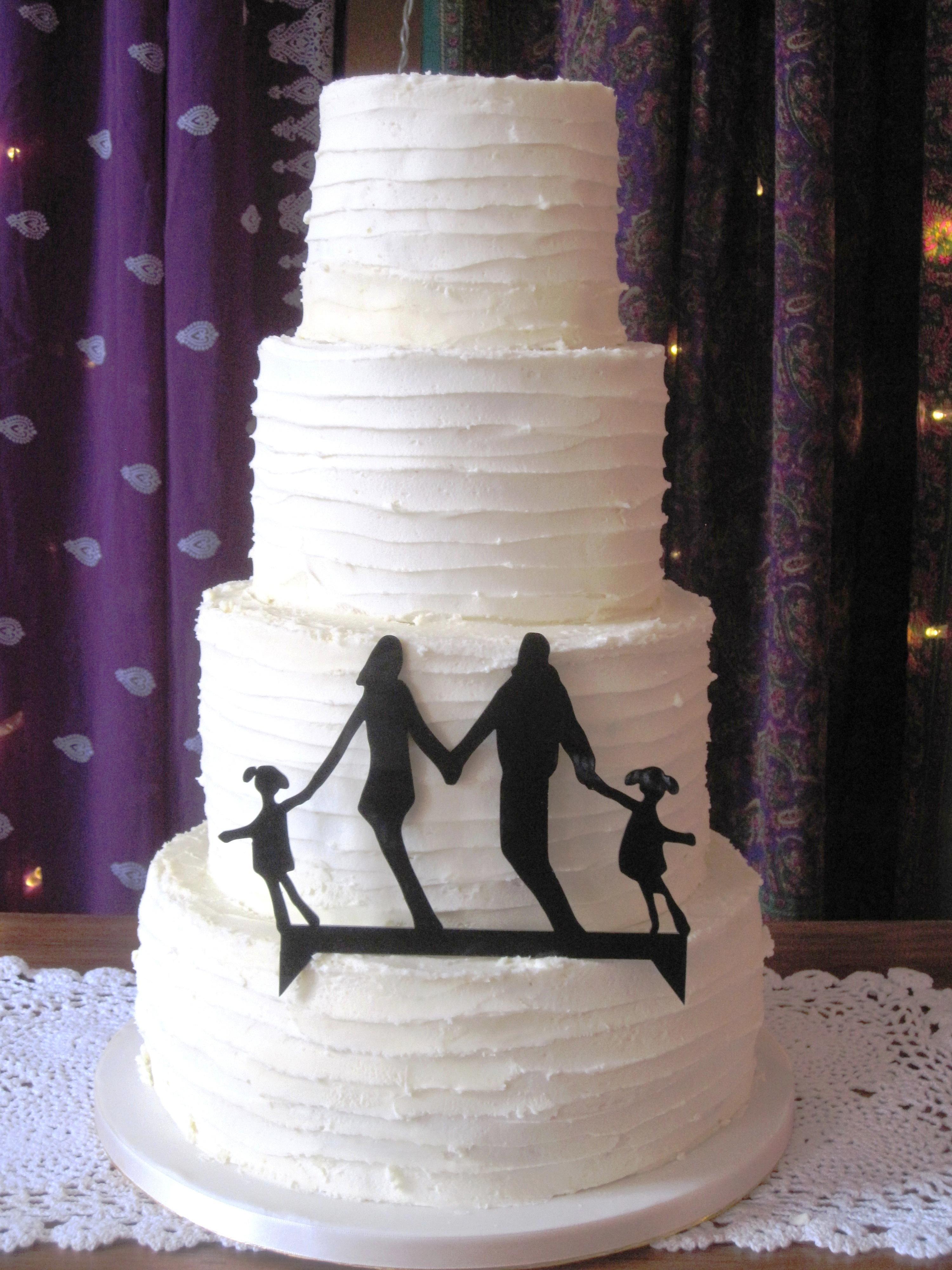Ivory Rustic Buttercream Wedding Cake