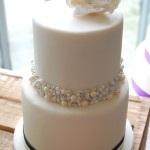 Two tier wedding cake