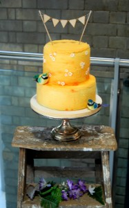 Yellow Buttercream Wedding Cake