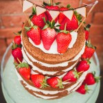 Naked Chocolate Cake with Strawberries